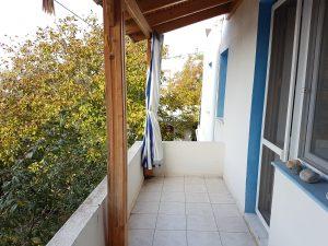 Balkon des großen Schlafzimmers der Ferienwohnung in Bodrum Güvercinlik