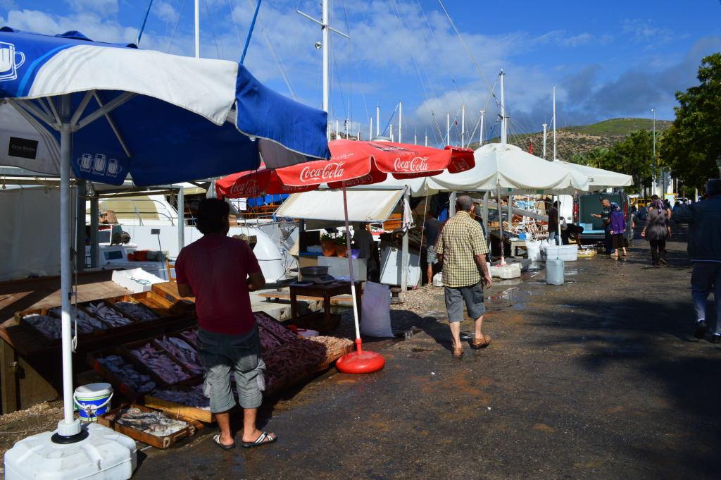 Fischverkauf in Bodrum