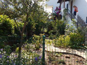 Garten der Ferienwohnung in Bodrum Güvercinlik